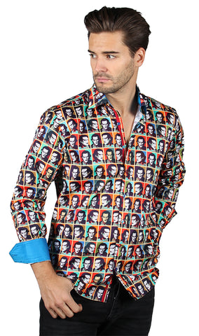 WWE Sting Pop Art Official Long Sleeve Dress Shirt