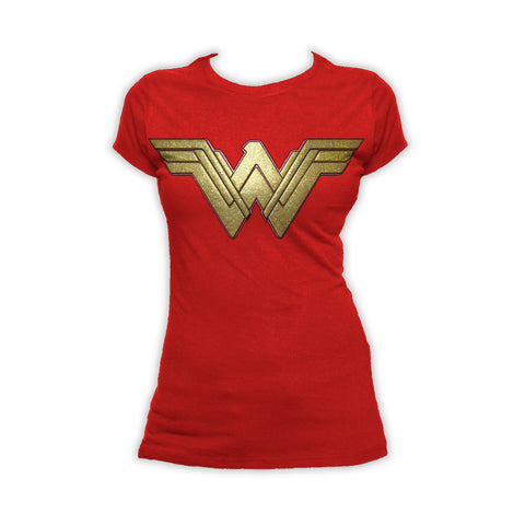 DC Wonder Woman Logo 3D Paisley Official Women's T-shirt (Red)