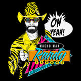 WWE Black Label Macho Man Randy Savage Official Men's T-shirt (Black)