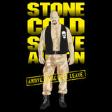 WWE Black Label Stone Cold Steve Austin Official Men's T-shirt (Black)