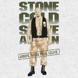 WWE Black Label Stone Cold Steve Austin Official Men's T-shirt (Heather Grey) - Urban Species Mens Short Sleeved T-Shirt