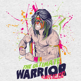 WWE Black Label Ultimate Warrior Official Men's T-shirt (Heather Grey) - Urban Species Mens Short Sleeved T-Shirt
