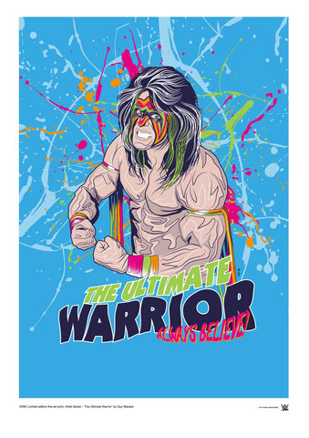 WWE Black Label Ultimate Warrior Official Art Print (A3 Size) - Urban Species N/A Tote bag