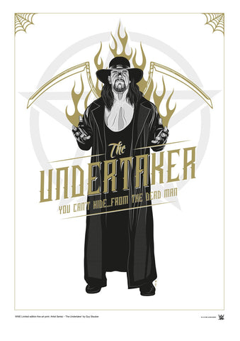 WWE Black Label Undertaker Official Art Print (A3 Size) - Urban Species N/A Tote bag