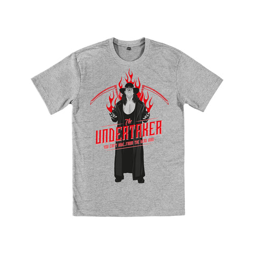 WWE Black Label Undertaker Official Men's T-shirt (Heather Grey) - Urban Species Mens Short Sleeved T-Shirt