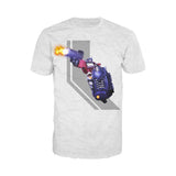 Transformers Prime Character Stripe Official Men's T-shirt (Heather Grey) - Urban Species Mens Short Sleeved T-Shirt