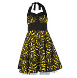 DC Comics Batman Logo Classic Repeat Official Women's Dress (Black)