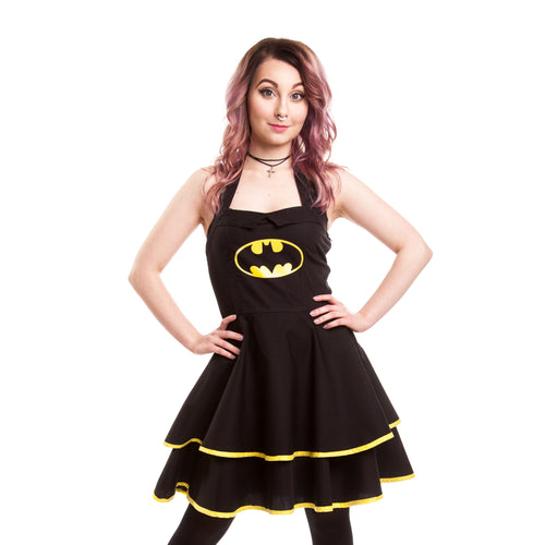 DC Comics Batman Cape Dress Official Women's Dress (Black) - Urban Species Ladies Dress
