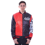 Cool New Street Fighter Ryu Knockout Men's Varsity Jacket (Red/Black) - Urban Species Mens Varsity Jacket