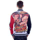 Street Fighter Ryu VS. Ken Men's Varsity Jacket (White/Black)