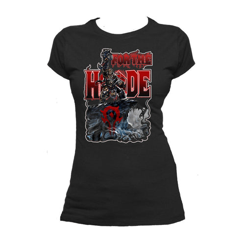 Warcraft Horde Official Women's T-shirt (Black) - Urban Species Ladies Short Sleeved T-Shirt