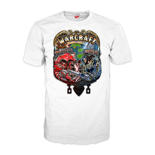 Warcraft Vs Official Men's T-shirt (White) - Urban Species Mens Short Sleeved T-Shirt