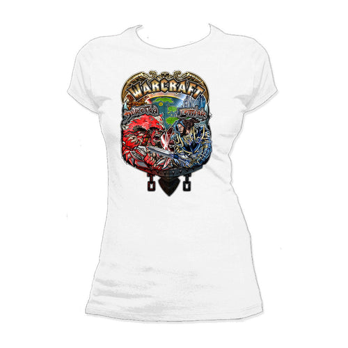 Warcraft Vs Official Women's T-shirt (White) - Urban Species Ladies Short Sleeved T-Shirt