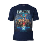 WWE Evolution Women Superstars Officially Licensed Men's T-Shirt (Navy)