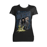 WWE Roman Reigns Comic Splash Official Women's T-shirt (Black)