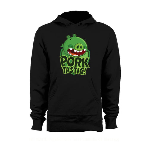 Angry Birds Pigs Minions Text Porktastic Official Hoodie (Black) - Urban Species Mens Hoodie