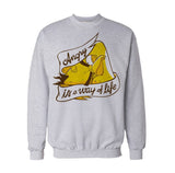 Angry Birds Chuck Text Way Life Official Sweatshirt (Heather Grey)