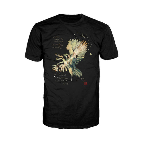 Beatles David Mack Blackbird Official Men's T-shirt (Black) - Urban Species Mens Short Sleeved T-Shirt