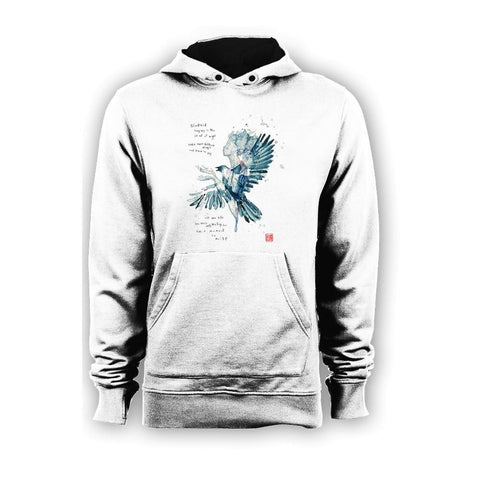 Beatles David Mack Blackbird Official Hoodie (White) - Urban Species Mens Hoodie