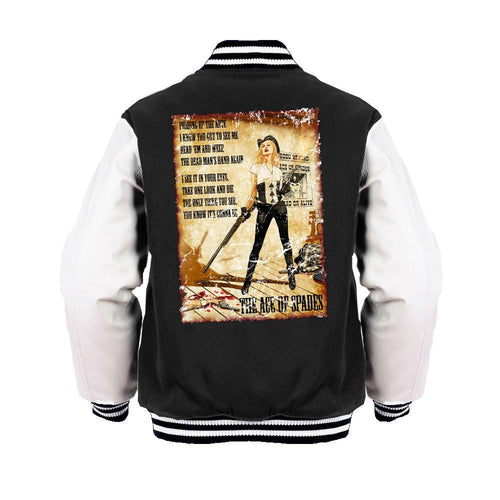 Motorhead Mike Mayhew Ace of Spades Official Varsity Jacket (Black) - Urban Species Varsity Jacket