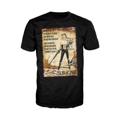 Moțrhead Mike Mayhew Ace of Spades Official Men's T-shirt (Black)