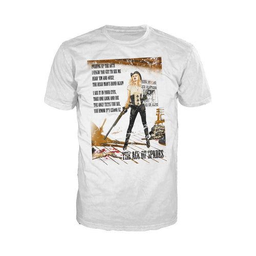 Moțrhead Mike Mayhew Ace of Spades Official Men's T-shirt (White)