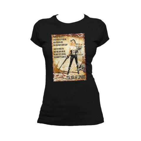 Moțrhead Mike Mayhew Ace of Spades Official Women's T-shirt (Black)