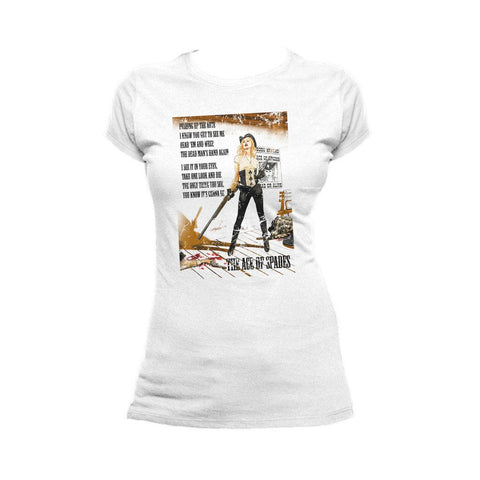 Moțrhead Mike Mayhew Ace of Spades Official Women's T-shirt (White)