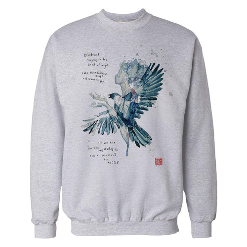 Beatles David Mack Blackbird Official Sweatshirt (White) - Urban Species Mens Sweatshirt