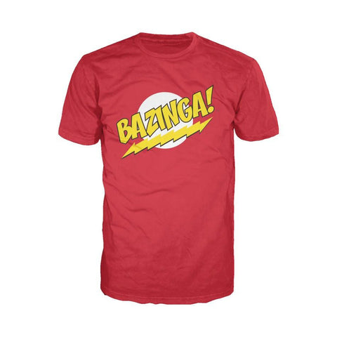 Big Bang Theory Logo Bazinga Official Men's T-Shirt (Red) - Urban Species Mens Short Sleeved T-Shirt