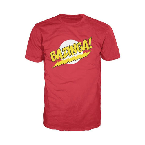 Big Bang Theory Logo Bazinga Official Men's T-Shirt (Red) - Urban Species Men's T-shirt