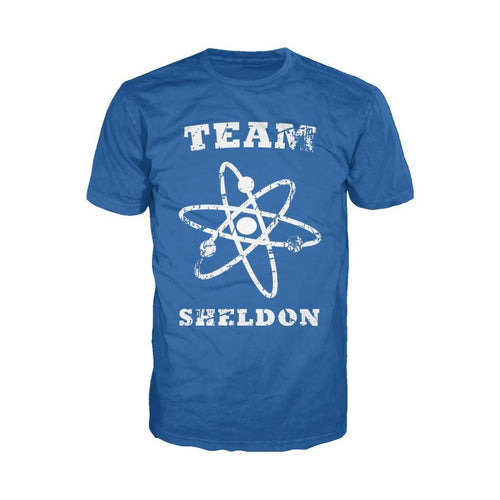 Big Bang Theory Logo Team Sheldon Atom Official Men's T-shirt (Royal Blue) - Urban Species Mens Short Sleeved T-Shirt
