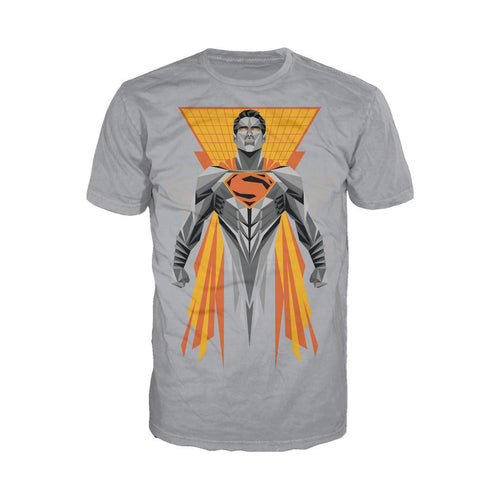 DC Batman V Superman Superman Splash Digi Cube Official Men's T-shirt (Heather Grey) - Urban Species Mens Short Sleeved T-Shirt