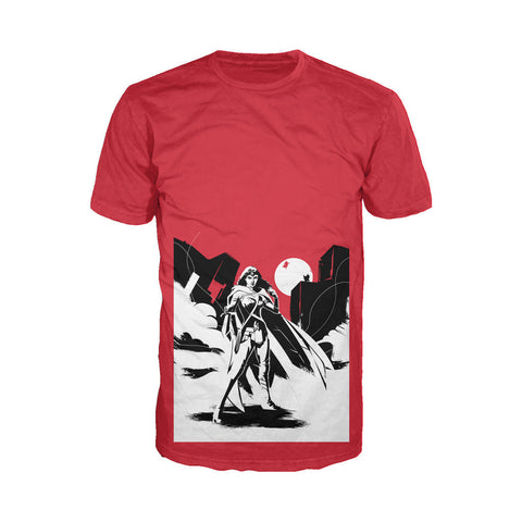 DC Batman V Superman Wonder Woman Splash Noir Official Men's T-shirt (Red) - Urban Species Mens Short Sleeved T-Shirt
