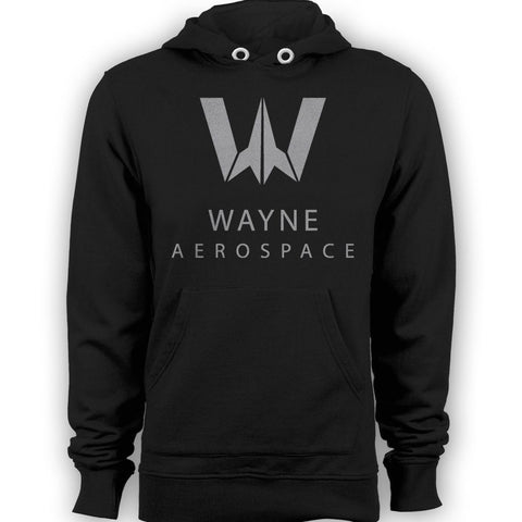DC Justice League Wayne Aerospace Official Hoodie (Black)