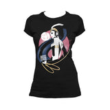 DC Justice League Wonder Woman Lasso Official Women's T-shirt (Black) - Urban Species Ladies Short Sleeved T-Shirt