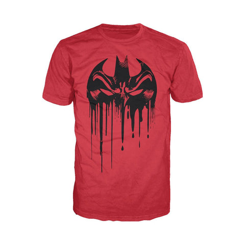 DC Comics Batman Graff Mask Official Men's T-Shirt (Red)