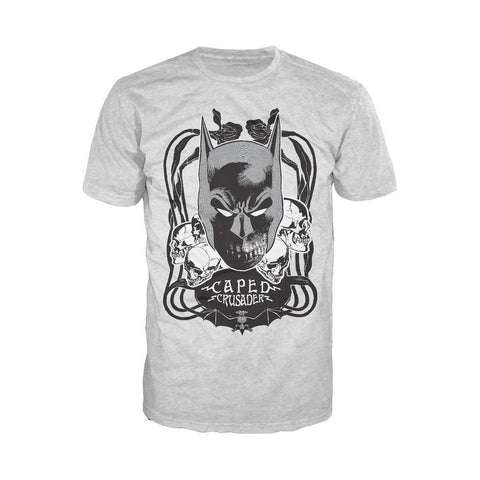 DC Comics Batman Skulls Crusader Official Men's T-shirt (Heather Grey) - Urban Species Mens Short Sleeved T-Shirt