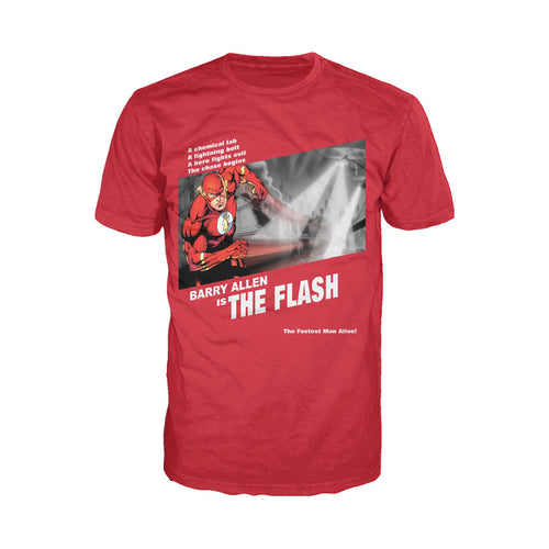 DC Comics Flash Fashion Fugitive Official Men's T-shirt (Red) - Urban Species Mens Short Sleeved T-Shirt