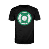 DC Comics Green Lantern Distressed Logo Official Men's T-shirt (Black) - Urban Species Mens Short Sleeved T-Shirt