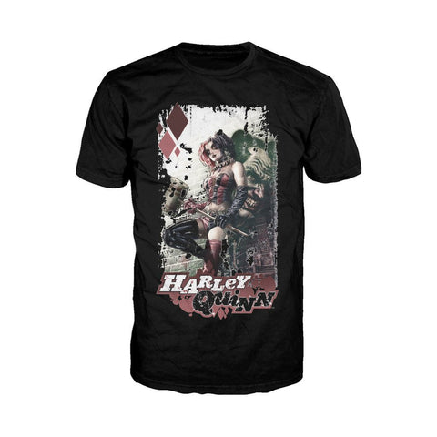 DC Comics Harley Quinn Comic Cover Official Men's T-Shirt (Black) - Urban Species Mens Short Sleeved T-Shirt