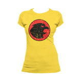 DC Comics Hawkgirl Distressed Logo Official Women's T-shirt (Yellow)