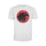 DC Comics Hawkman Distressed Logo Official Men's T-shirt (Heather Grey)
