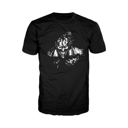 DC Comics Joker Character Silhoutte Official Men's T-Shirt (Black) - Urban Species Mens Short Sleeved T-Shirt