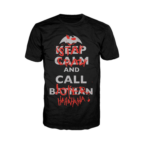 DC Comics Joker Text Stay Crazy Official Men's T-Shirt (Black) - Urban Species Mens Short Sleeved T-Shirt