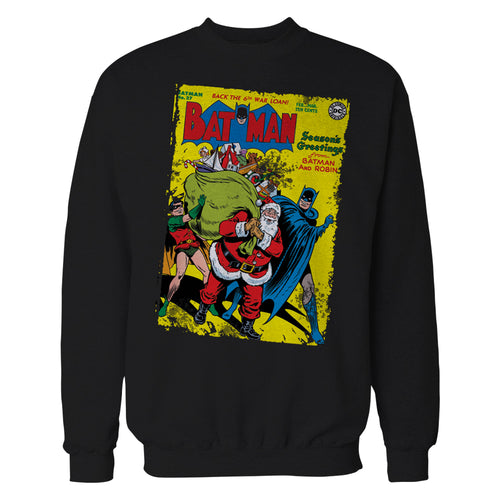 DC Comics Batman Cover 27 Xmas Official Sweatshirt (Black) - Urban Species Sweatshirt