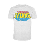 DC Comics New Teen Titans Distressed Logo Official Men's T-shirt (Heather Grey)