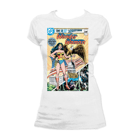 DC Comics Wonder Woman Cover #272 Official Women's T-shirt (White) - Urban Species Ladies Short Sleeved T-Shirt