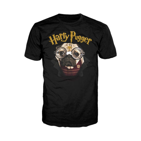 Doug The Pug Harry Pugger Official Men's T-shirt (Black)