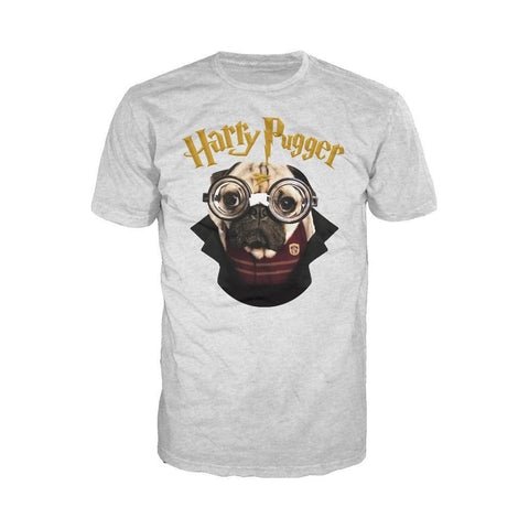 Doug The Pug Harry Pugger Official Men's T-shirt (Heather Grey)
